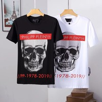 Philipp Plein PP Men Fashion Casual Sports Shirt Top Tee White Black M-XXXL