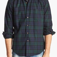 Men's Pendleton 'Fireside' Fitted Plaid Wool Flannel