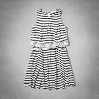 stripe overlay dress