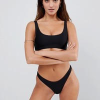Lepel London Ribbed High Leg Bikini Bottom at asos.com