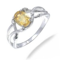 Vir Jewels Sterling Silver Citrine Ring (0.80 CT) In Size 5