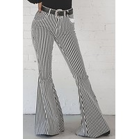 Walk The Line Black And White Bell Bottoms