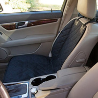 Bucket Seat Cover for Dogs, Fits Cars, Trucks, SUV's, Black, 20 x 39 inches, Quilted Oxford, Side Flaps, Nonslip Backing