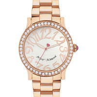 Betsey Johnson Watch, Women's Rose Gold Tone Bracelet 40mm BJ00190-09 - All Watches - Jewelry & Watches - Macy's