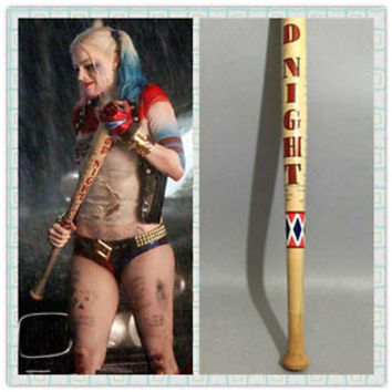 """34"""" Harley Quinn Suicide Squad Wooden Baseball bat Cosplay Prop Anime Collection"""