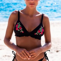 Hot New Arrival Sexy Beach Summer Swimsuit Swimwear Black Print Bikini [113149706255]