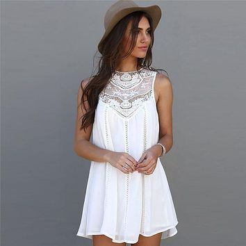 LACE CROCHETED BABY DOLL DRESS