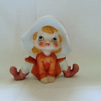 Vintage Fairy Elf Pixie Homco Ceramic
