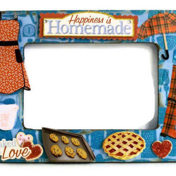 Mother's Day Photo Frame - Gifts for Grandma and Mom Picture Frame Collage - Homemade Cooking & Baking