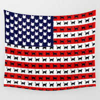 Cat Flag Wall Tapestry by Cat Attack