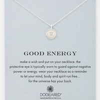 Women's Dogeared 'Reminder - Good Energy' Boxed Pendant Necklace - Silver