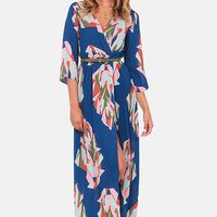 Day in the Life Blue Print Maxi Dress