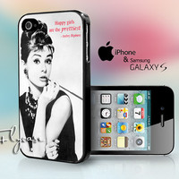 iphone 4/4s,iphone 5,Samsung Galaxy S3,Samsung Galaxy S4 Case On Audrey Hepburn Pretty Quote Vintage