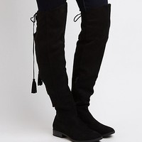Tie-Back Flat Over-The-Knee Boots