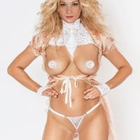 Crotchless G-String with Bead Strand