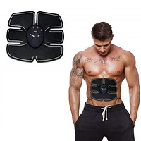 6 Pack EMS Tummy Flatter, Weight Loss Muscle Toning Fitness Technology Kit 6 Pack ABS, Wireless Electro Pad Portable Gym Trainer For Men & Womens