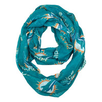 Miami Dolphins NFL Sheer Infinity Scarf