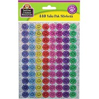 Mini Happy Faces Sparkle Stickers