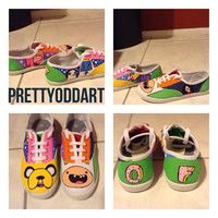 Adventure Time Shoes with Odd Future logo