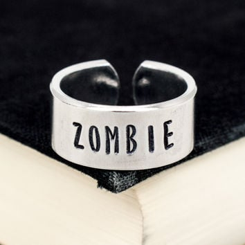 Zombie Ring - Adjustable Aluminum Cuff Ring Style B