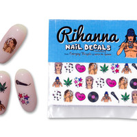Rihanna nail decals