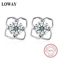 MUTO Lovely Flower 925 Sterling Silver Stud earrings Gift for Girls Fine Jewelry SVED4104 Certificate NO.: 10170519776