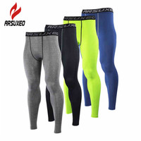 ARSUXEO Men Compression Base Layers Running Elast Tights Pants Fitness Workout ym Bodybuilding Basketball Leggings Clothing