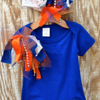 Baby's Florida Gator Orange and Blue Onsie by RagTykes on Etsy
