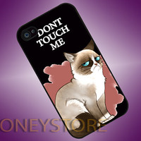 Grumpy Cat Dont Touch Me - Photo Print for iPhone 4/4s, iPhone 5/5C, Samsung S3 i9300, Samsung S4 i9500 Hard Case
