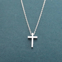 Small, 3D cross, Gold, Silver, Necklace, Birthday, Best friends, Sister, Gift, Jewelry