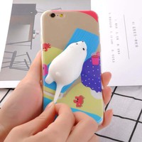 3D Cartoon Squishy Seas Dolphin Phone Cases For iPhone