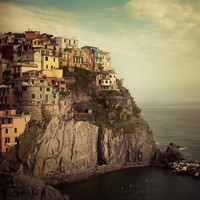 Italy Photograph - Cinque Terre, Manarola, Pastel Houses - Postcard from the Edge