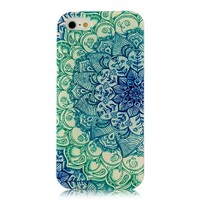 Iphone 5c Case, JAHOLAN Green Totem Flower Clear TPU Soft Case Rubber Silicone Skin Cover for iphone 5C + Free Phone Ring Stent