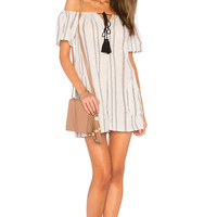 BCBGeneration Off Shoulder Romper in Black Multi | REVOLVE