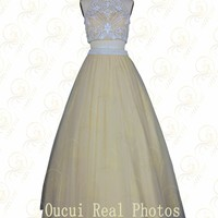 Aliexpress.com : Buy Chiffon Fabric With Tulle Blue Color Sparkle Beading Handwork New Party Dress Celebrity Women OL102444 from Reliable fabric suppliers on Oucui Fashion Evening Dress Manufactory | Alibaba Group