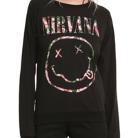 Nirvana Floral Smiley Girls Top