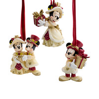 Minnie and Mickey Mouse Holiday Ornament Set