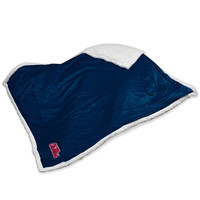 Mississippi Rebels NCAA  Soft Plush Sherpa Throw Blanket (50in x 60in)