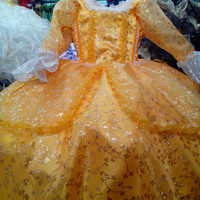 Amber costume dress Sofia the First Once Upon A Princess cosplay yellow dressup presentation quince flower girl pageant XV tutu gown