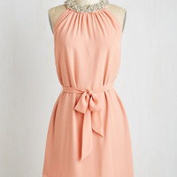 Pastel Mid-length Sleeveless Shift Shimmy and Shine Dress by ModCloth