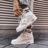 NIKE OFF-WHITE x Air Jordan 4 Sail OW Sneaker