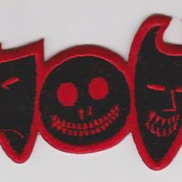 Nightmare Before Christmas Iron-On Patch Mask Faces
