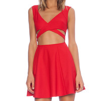 MINKPINK Wrapped Up Dress in Red