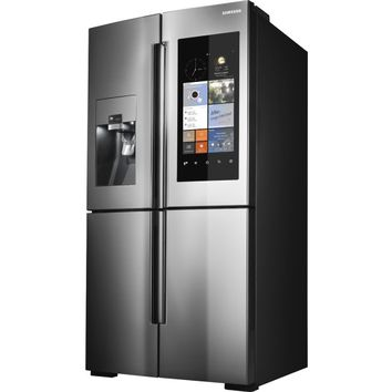 Samsung - Family Hub 22.08 Cu. Ft. Counter-Depth 4-Door Flex Smart French Door Refrigerator With Geek Squad White Glove Experience - Stainless Steel