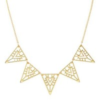 Gold Cut-Out Triangle Collar Necklace by Charlotte Russe