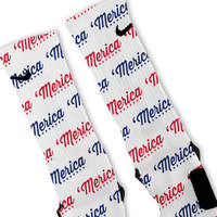 Merica Custom Nike Elite Socks
