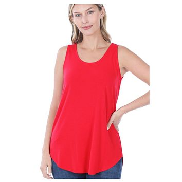 Cozy Me! Relaxed Fit Sleeveless Top - Ruby