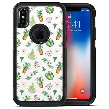The Tropical Pineapple and Floral Pattern 4 - iPhone X OtterBox Case & Skin Kits