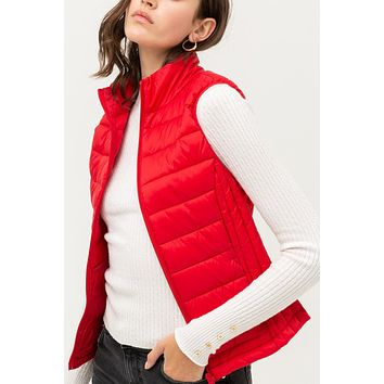 Classic Active Quilted Zip Up Padded Puffer Vest Jacket with Pockets