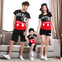 MIckey Black Red Family Matching Clothing
